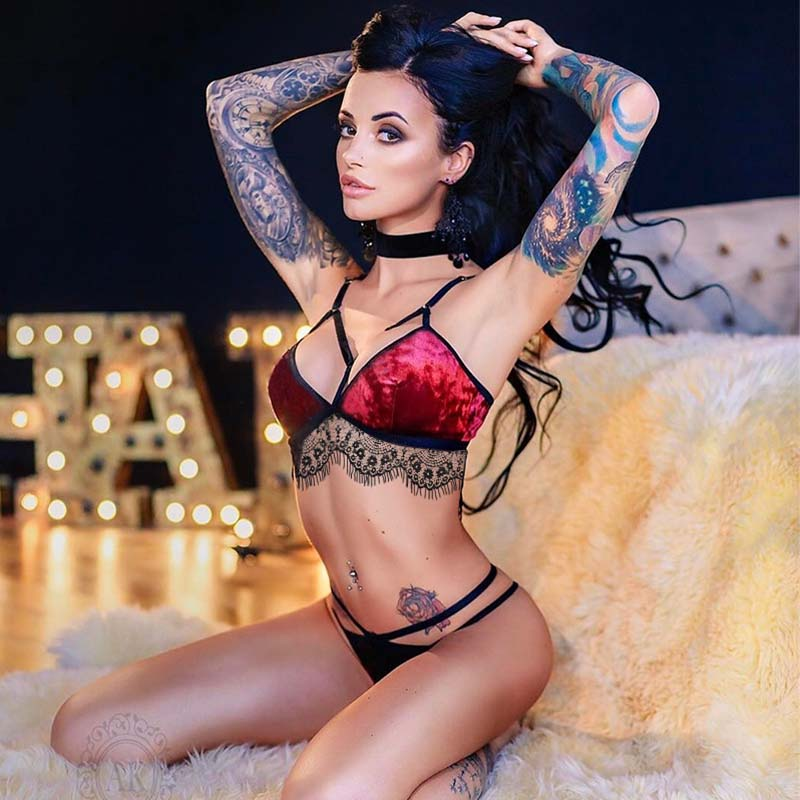 Soft Sexy Underwear For Women Lace Sexy Suit G String -7354