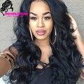 100% virgin brazilian human hair u part wigs body wave 180 density u part wig right part u part human hair wigs for black woman