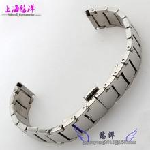 Stainless steel strap hook steel belt fit men and women watch 20 mm steel belt