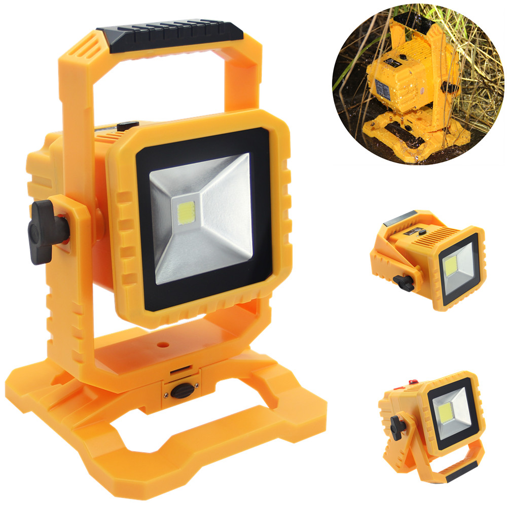 20w Led Dimmable: IP65 Dimmable 20W LED Rechargeable Floodlight With