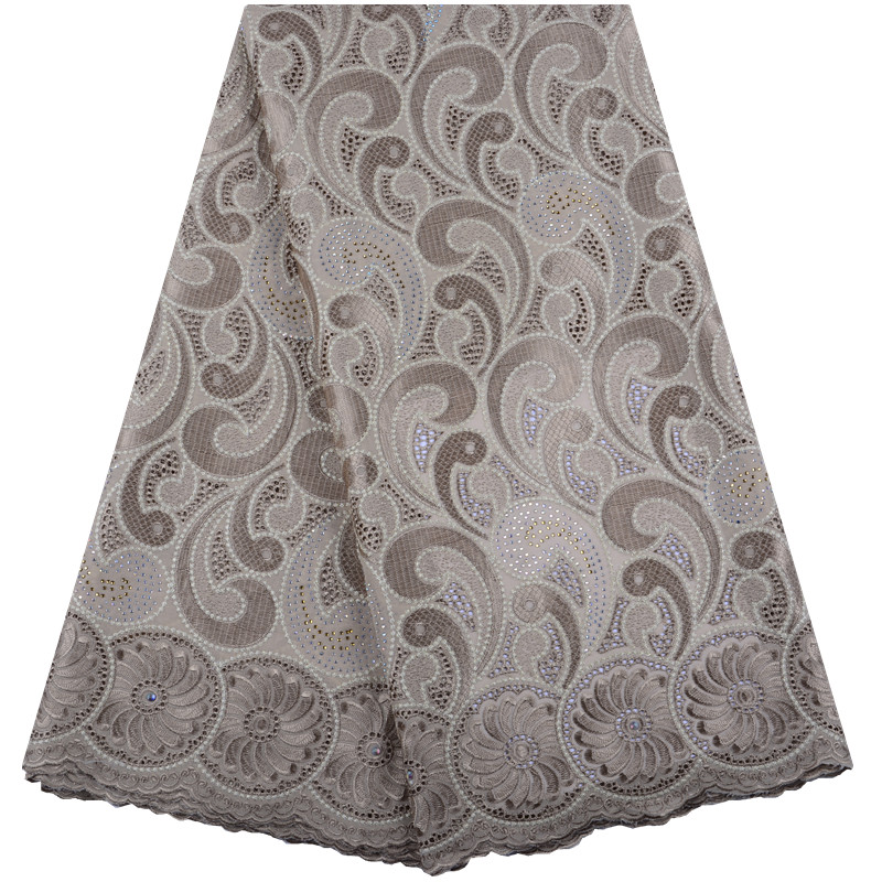African Dry Swiss Voile Lace Fabric High Quality Rhinestones Swiss Voile Lace In Switzerland Cotton Nigeria