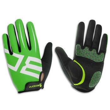 Ademende mannen Handschoenen Lange Vinger met Gel Pad Shockproof Sport Handschoenen Mtb Road Mountain Fiets Handschoenen