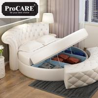 hot sale round leather bed in different color for home or for hotel