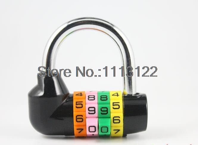 4 Digit Large Gate Lock zinc alloy Combination Padlock safety anti-theft Password lock Dormitory Door Lock Code padlock 1 pc