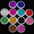 NRB   New Mix Color Caviar Set Glitter Sequins Nail Art Beads 12 PCS Acrylic Bottle Packing DIY Nail Decoration Free Shipping