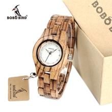 2017 Brand Women Watch BOBO BIRD Zebra Bamboo Wood Watches Casual Ladies Wristwatch relogio feminino B-O29