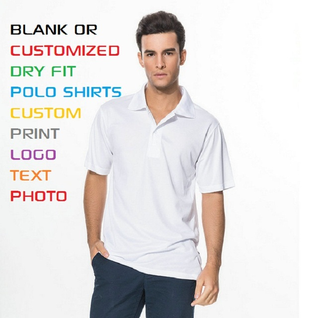 Adult Men Polyester Quick Dry Summer Polos Blank Custom Personalized Print Casual Polos 8 Color XS-3XL Free Shipping