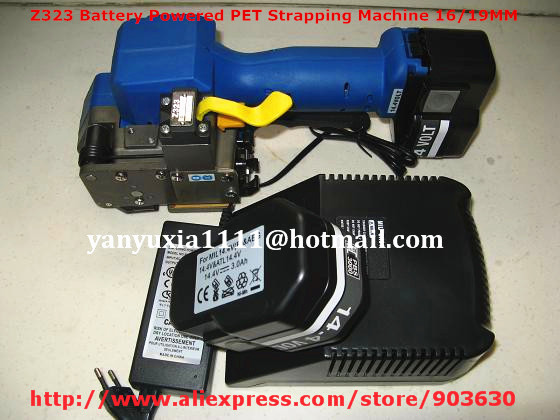Z323 Battery Powered PET/Plastic Welding Strapping Tool ,Electric PET Strapping Machine Packing for 16-19MM PET&PP strap  цены