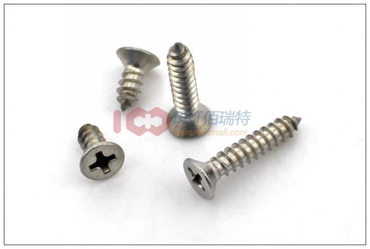 304 stainless steel countersunk head tapping screws / flat small M2.6 * 6 100pieces - TGLOE store