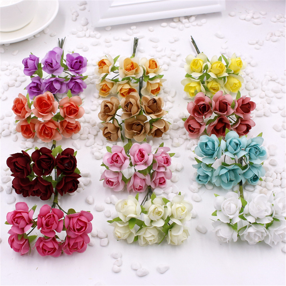 6pcs 27cm Christmas Tree Honeycombs Tissue Paper Trees: 6pcs Cute Paper Rose Handmade Artificial Flower For