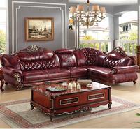 Direct Selling Living Room Furniture Leather L Shape Sofa Set
