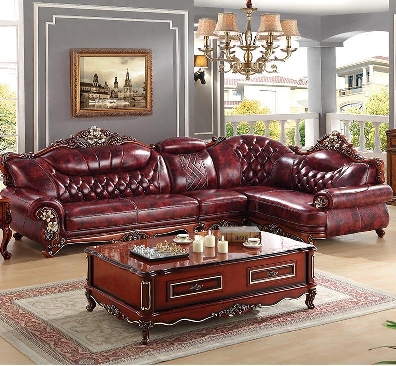 Direct Selling Living Room Furniture, Leather L Shape Sofa