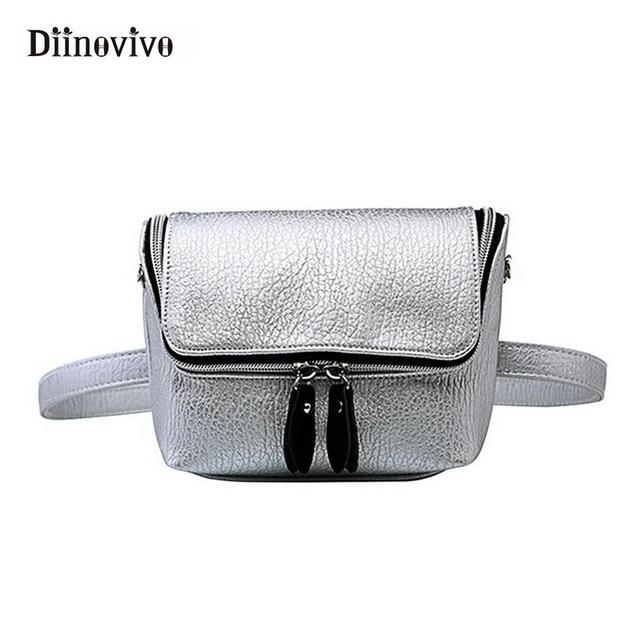 DIINOVIVO New Waist Bags for Women Zipper Phone Purse Shoulder Bag Ladies Shopping Bolsa Feminina Travel Waist Packs WHDV0388
