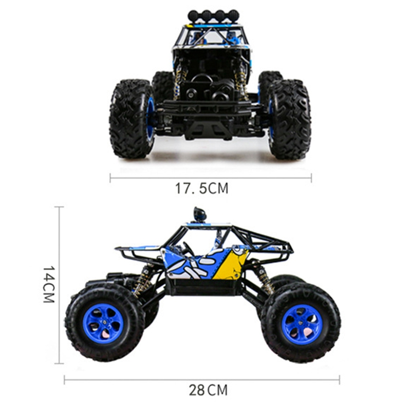 Image 5 - 1/16 2.4Ghz Alloy Body Shell Rock Crawler 4Wd Double Motors Off Road Remote Control Rc Buggy Bigfoot Climbing Car Vehicle Toys-in RC Cars from Toys & Hobbies