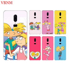 Hey Arnold Funny New Phone Back Case For OnePlus 7 Pro 6 6T 5 5T 3 3T 7Pro 1+7 Art Gift Patterned Customized Cases Cover Coque