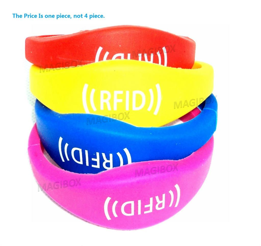 Color 125khz Rfid Waterproof Proximity ID Card EM card RFID wristbands bracelets and wrist band ID TK4100 silicone id wristband 100pcs bag tk4100 em id keyfob k001