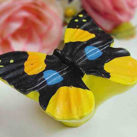 Colorful Beautiful furniture handles resin butterfly, kitchen door ...