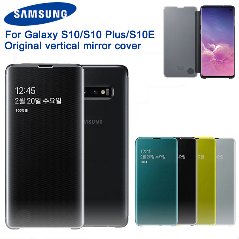 Original Samsung Clear View Cover Mirror Protection Shell For Samsung Galaxy S10 S10Plus S10E SM G9730