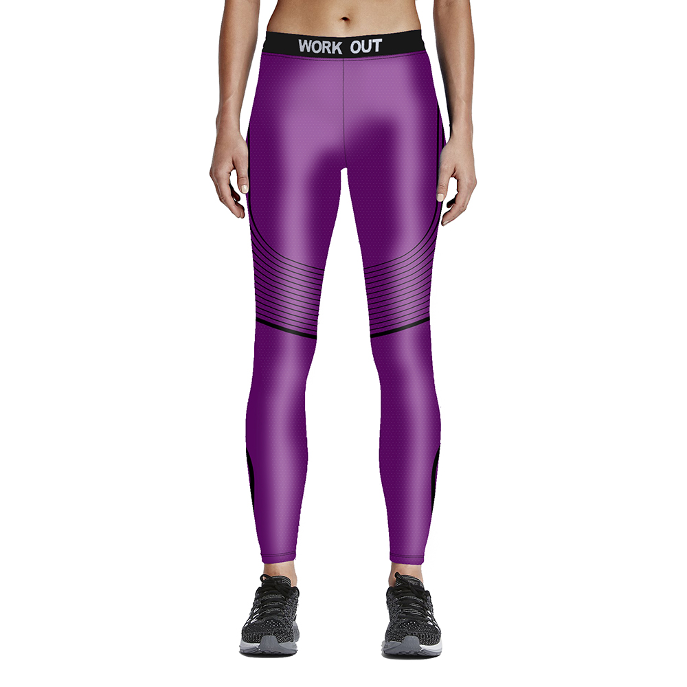 Hot sales New fashion 3D Woman fitness solid color wave line 9-point tie waist pants WORK OUT Drop shipping/ Free shipping