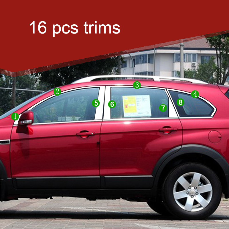 lsrtw2017 304 stainless steel car window trims for chevrolet captiva 2006 2007 2008 2009 2010 2011 2012 2013 2014 2015 2016