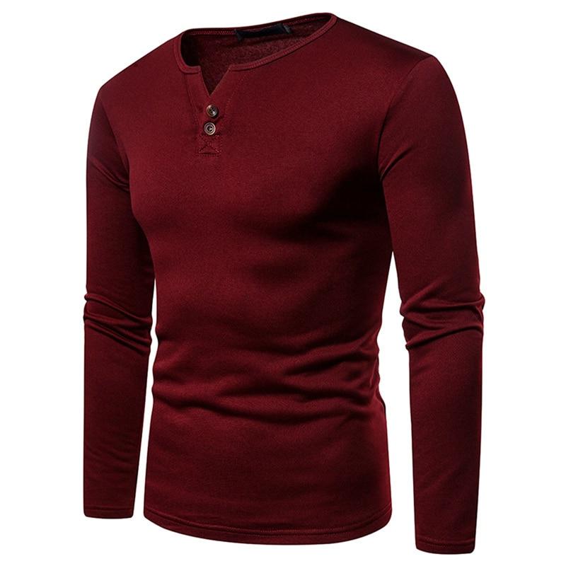Hot Sale Men Warm T-shirt Autumn Winter Man Long Sleeve Casual Velvet Thick T-Shirt Male Top Tees