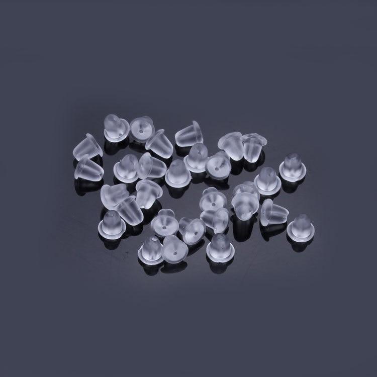 200pcs Lot Plastic Earring Backs Stoppers For Diy Earring