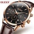 Часы OLEVS мужские  кварцевые  водонепроницаемые  со светящимся календарем