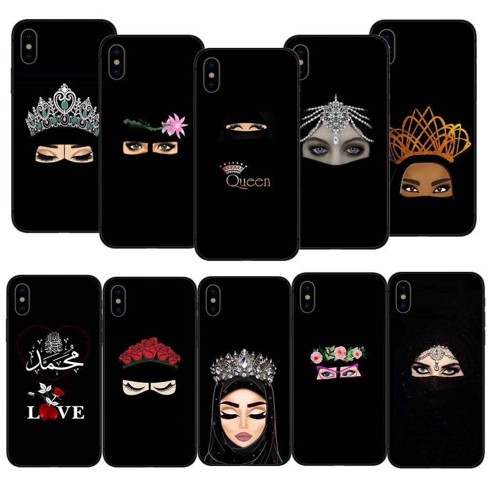 Muslim Islamic Gril Eyes Unique Luxury soft tpu Silicon phone case for iPhone 8 7 6 6S Plus X 10 5 5S SE 6 6S 7 8 Coque Shell Гриль