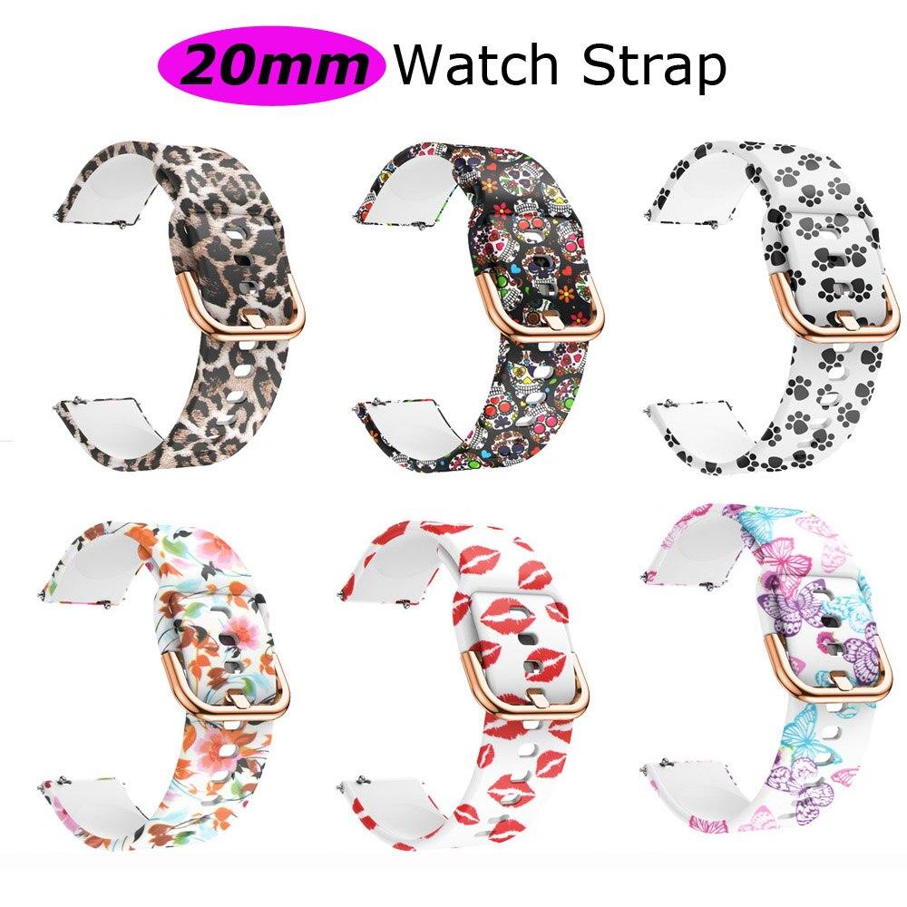20mm Silicone Bracelet Strap For Xiaomi Huami Amazfit GTS Watchband Amazfit Bip Wristband Amazfit GTR 42mm Watch Band Wrist Belt