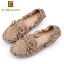 8963abf77 Sapatos Mulheres Rebanho Viajar Casuais Planas Loafers Slip On Borboleta-nó  Sapatos Mocassins Apartamentos Senhora