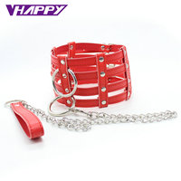 Include Drag Chain Leather Neck Collar Slave Harness Bondage Adult Fetish Product Sex Game erotic Toys for Women Couples bdsm
