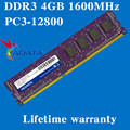 Оперативная память для компьютера ADATA DDR3 4GB 1600MHz PC3-12800U 1600 4G RAM 240PIN