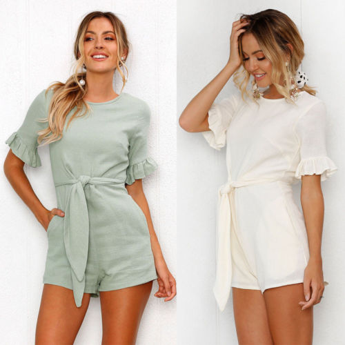 Women Ladies Clubwear Shorts Playsuit Bodycon Party Jumpsuit Romper Female Tops