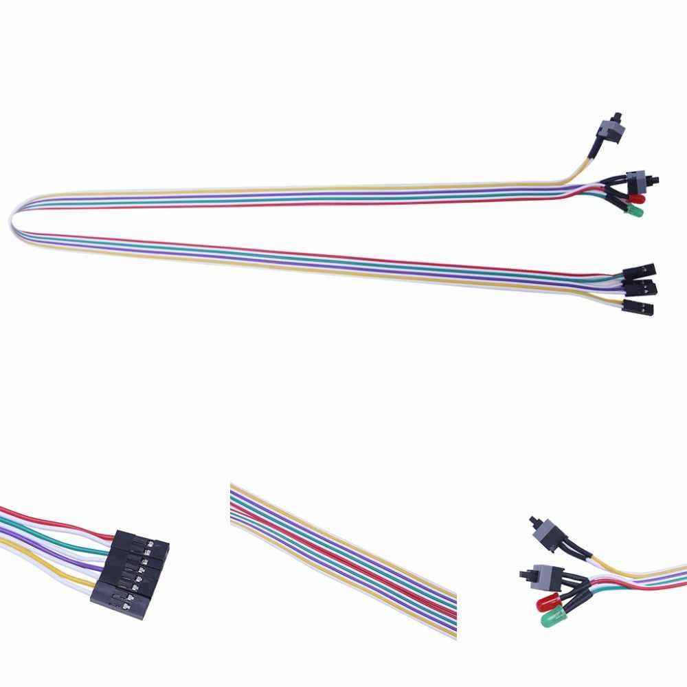 65 سنتيمتر كمبيوتر مكتبي PC حالة ATX السلطة على إعادة تعيين التبديل مع كابل HDD مصباح ليد-