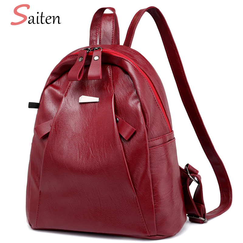 2018 New Fashion Backpacks for Teenage Girls Large Capacity Travel Backpack Women's PU Leather Backpack School Bags Casual Women 4pcs set women fashion backpack pu leather teenage school bag casual clutch crossbody travel bags for girls with purse and bear