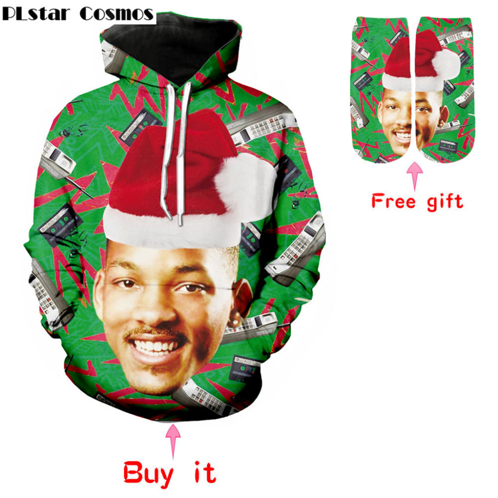 PLstar Cosmos The Fresh Prince of Bel Air New fashion hoodies arrival 3D pullover sweatshirt long sleeve sportswear tops hoodies