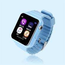 Gps smart watch niños reloj v7k con cámara/facebook llamada sos ubicación devicertracker de seguros para niños anti-perdido monitor pk q90/80
