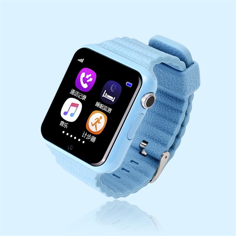 imágenes para Gps smart watch niños reloj v7k con cámara/facebook llamada sos ubicación devicertracker de seguros para niños anti-perdido monitor pk q90/80