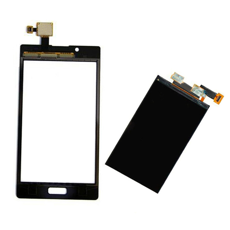 White For LG Optimus L7 P700 P705 Touch Screen Digitizer Sensor Glass + LCD Display Screen Panel Monitor Replacement