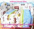 6 cama / bebê Kitty mickey, Capa de edredão, Roupas de cama berço set 100% algodão, 120 * 60 / 120 * 70 cm