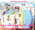 Promoción! 6 / 7 unids sistema del lecho del bebé del gatito de mickey, funda nórdica, cuna lecho 100% de algodón ropa de cama de bebé, 120 * 60 / 120 * 70 cm