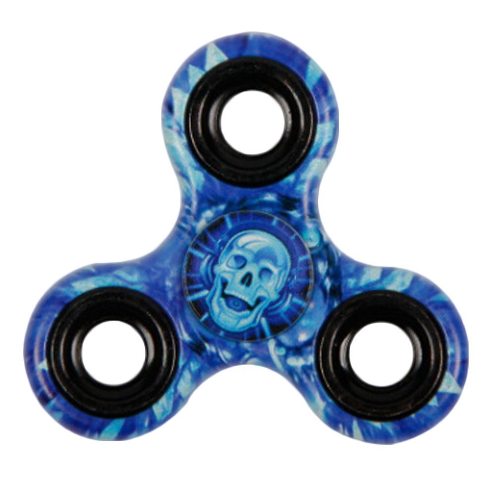 2018 Hand Finger Toys Triangle skull Fidget Spinner Colorful For Autism and ADHD Anti Anxiety Adult Kids Toys