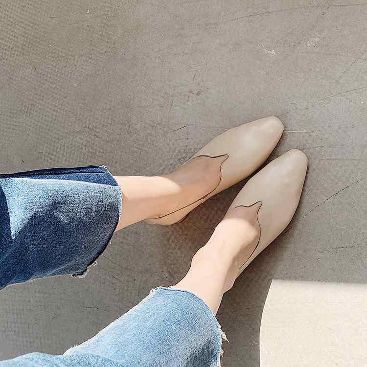 Apricot Europäischen weiß Leder Heißer Krazing Kleid L01 Karree Dating Einfache Med Echtem Pumpen Stil Heels Frauen Mode 2019 Topf Verkauf Schönheit zRqwnCqHX