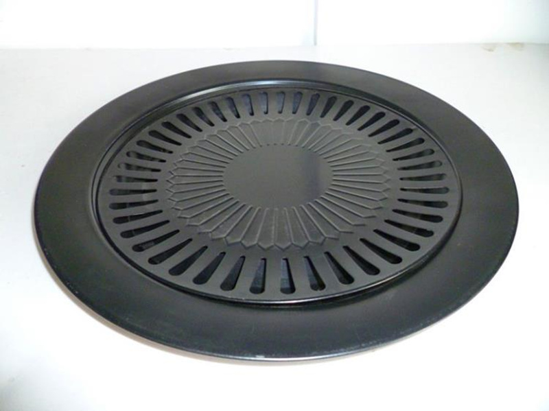 Korean Outdoor Barbecue Grill Non-stick BBQ Pan Round Easily Cleaned Grills Barbecue Accessories Tools