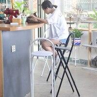 Cadeira dobrável tamborete de barra de alta cadeira de jantar em casa cadeira de jantar simples portátil espessamento cadeira de adulto fezes|Cadeiras p/ bar| |  -