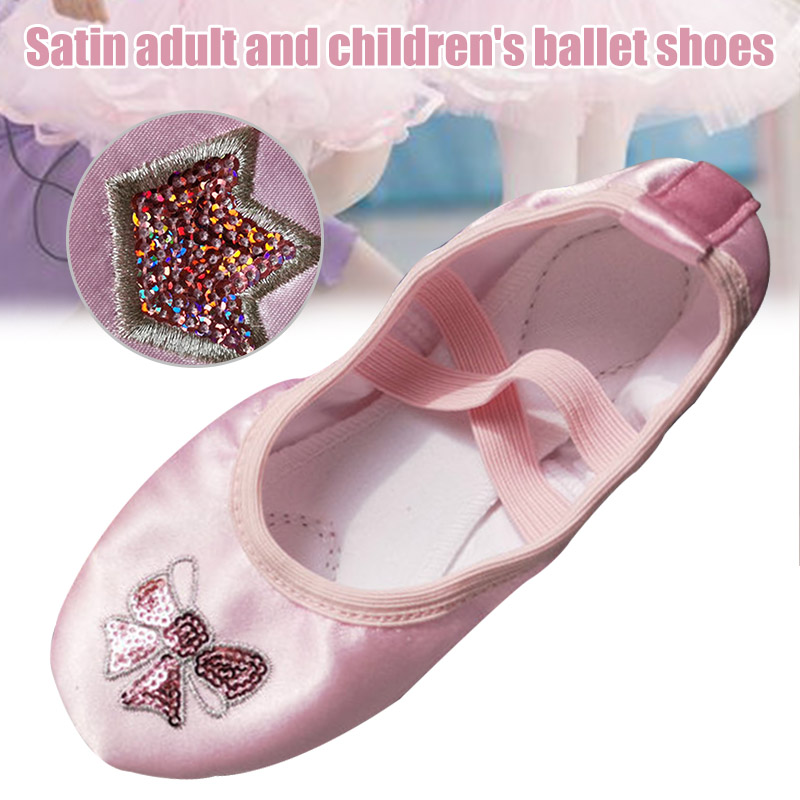 2020-new-adult-children's-yoga-shoes-ballet-shoes-waterproof-deodorant-flat-dance-shoes
