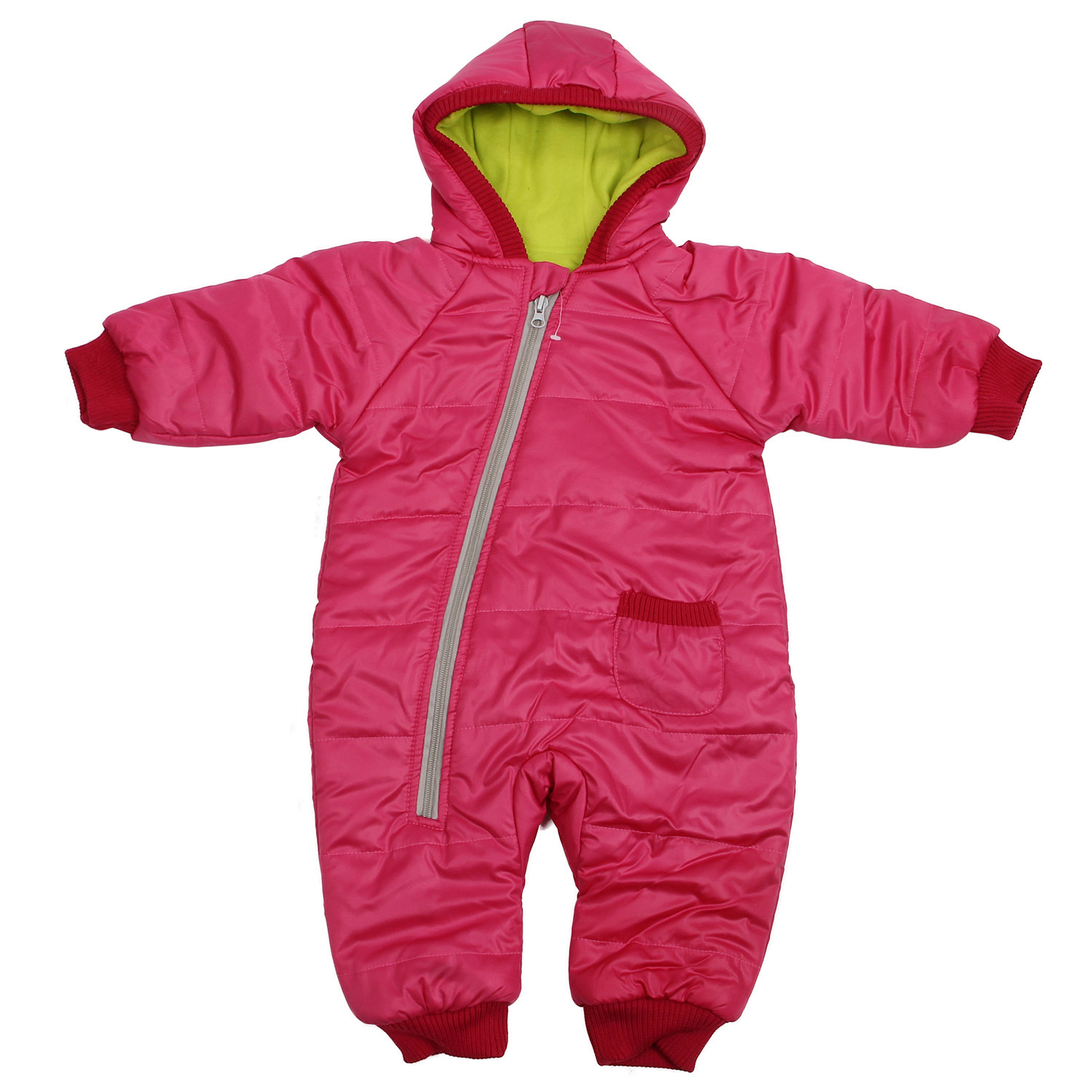 Winter Baby Girl Boy Kid Toddler Snowsuit Coat Jacket Jumper Outwear Clothes 1PC rose red 1-2 Years