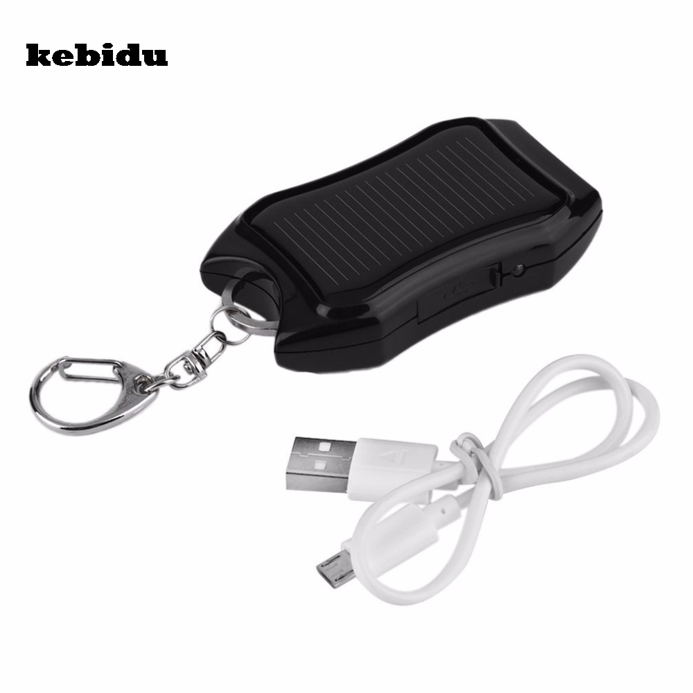 Consumer Electronics Keychain Chargers Kebidu Mini 5v Solar Power Bank Usb Charger Battery Mobile Power Supply Energy With High Power 800ma For Emergency