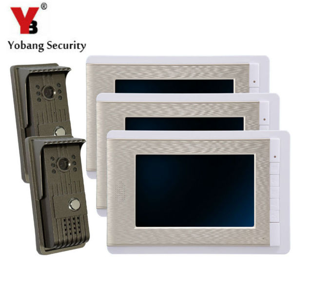 YobangSecurity 7 Inch Wire Video Door Phone Doorbell Video Entry Intercom  System Home Security Camera Kit