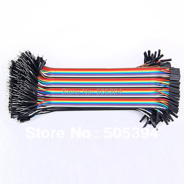 40Pcs/pack In Row Dupont Cable 20cm 2.54mm 1Pin 1p-1p Female To Male Jumper Wire